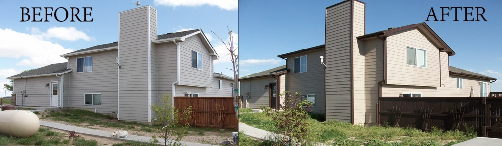 before-after suburban home