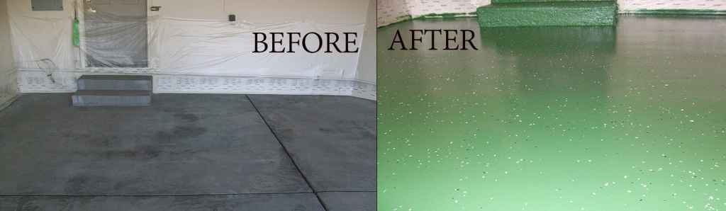 before-after garage floor