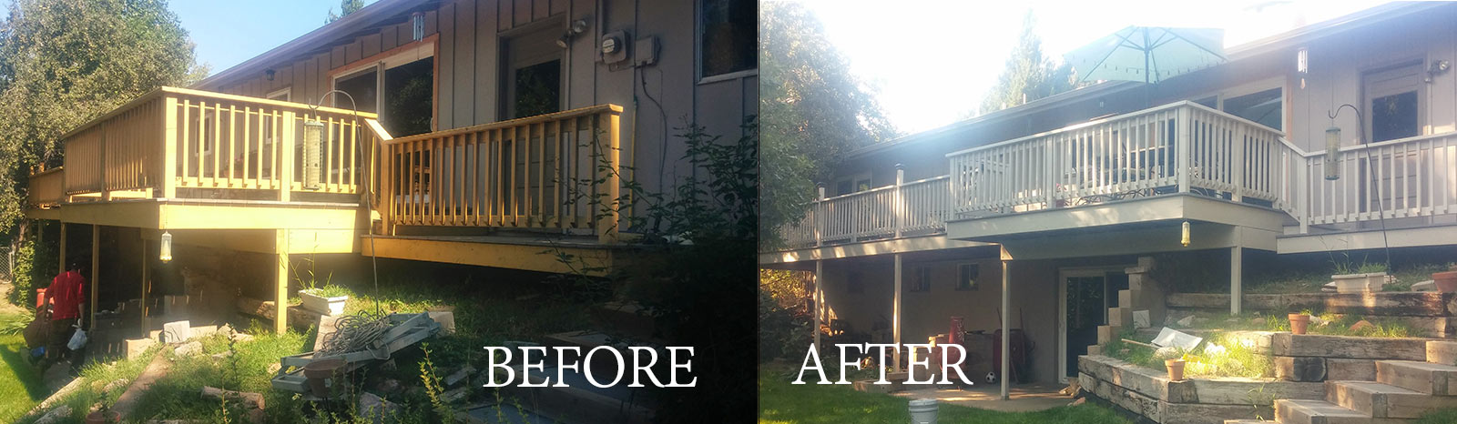 before-after deck painting